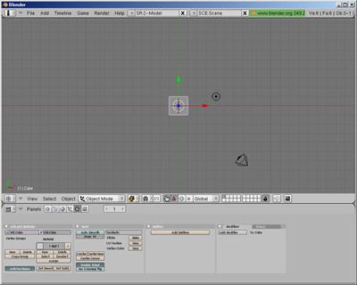 Blenderの画面