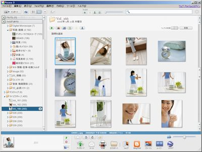 Picasaの起動画面